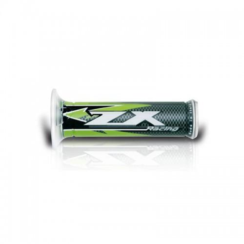 Χειρολαβές Ariete Kawasaki ZX 01687-ZX Carbon πράσινες