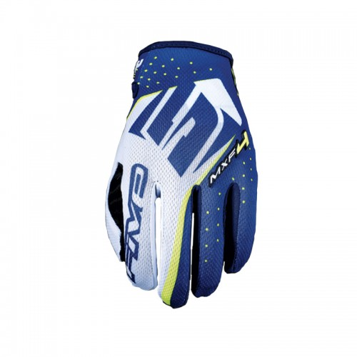 Five MXF4 Gloves Fluo Yellow
