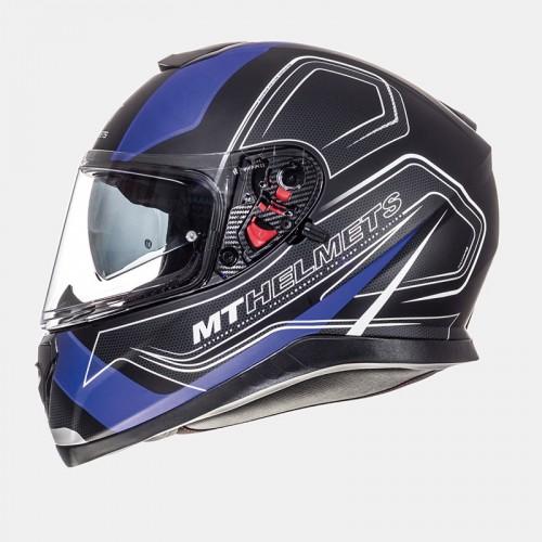 Κράνος MT Thunder 3 SV Trace ματ μαύρο-μπλέ