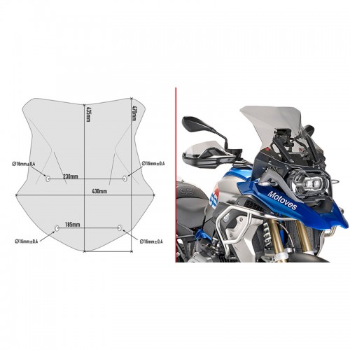 Windshield Givi 5124D_R1200GS'16-17 Bmw GIVI