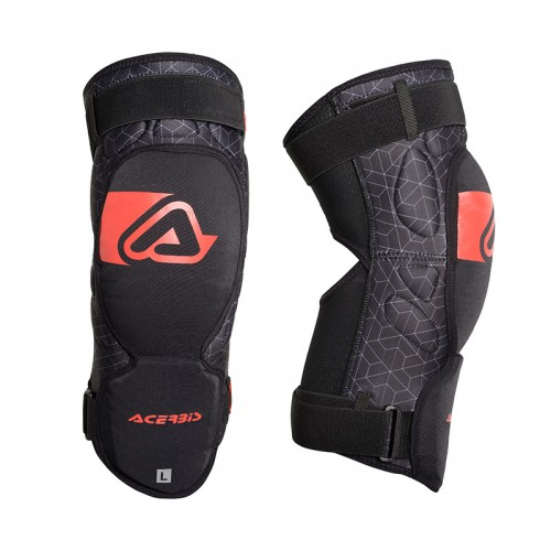 Soft Knee Guard Acerbis  X-KNEE  _ 23454 Black - Red