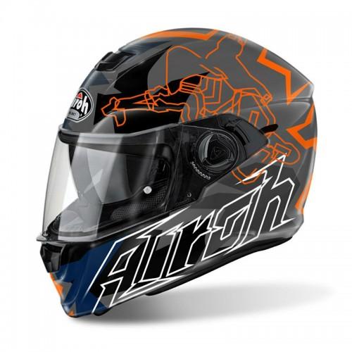 Κράνος Airoh Storm Bionicle πορτοκαλί