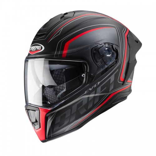 Caberg Drift Evo Integra Black matt-Anthr-Red fluo
