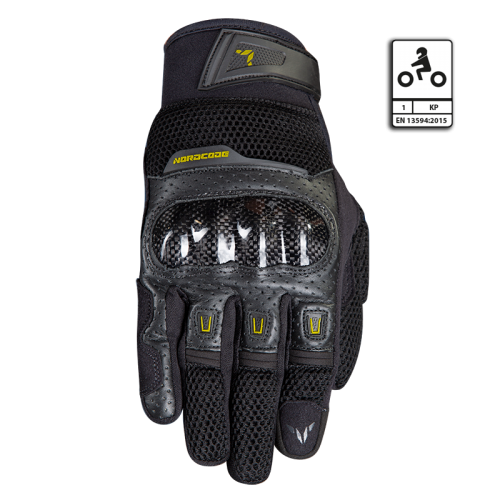 Nordcode Air Tech Gloves Black-Fluo Yellow