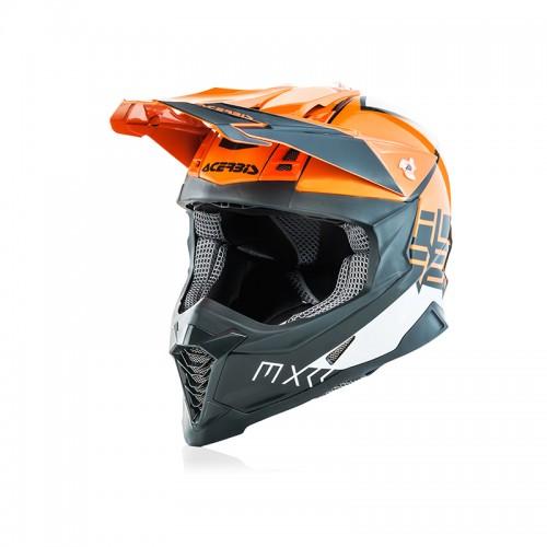 Κράνος Acerbis 23444.207_ X-Racer VTR_ πορτοκαλί-γκρι