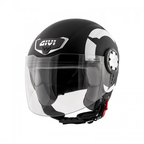 Κράνος Givi H10.4F Stark μαύρο-λευκό ματ