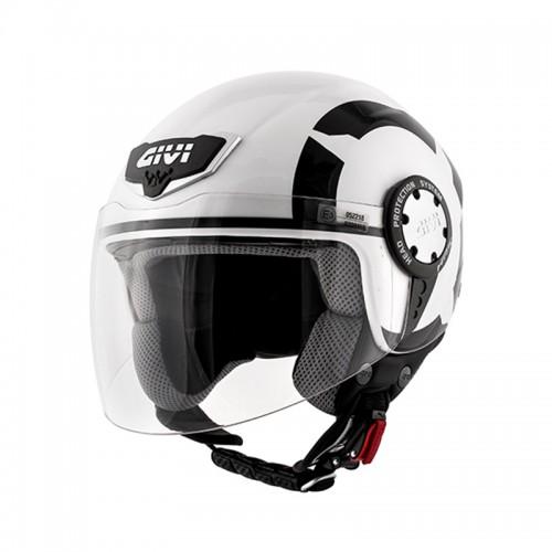 Κράνος Givi H10.4F Stark gloss λευκό-μαύρο